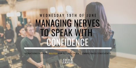 Managing Nerves To Speak With Confidence  tickets