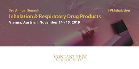 3rd Annual Inhalation & Respiratory Drug Products Summit Tickets