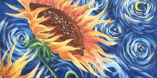 Sunflowers Brush Party - Headington