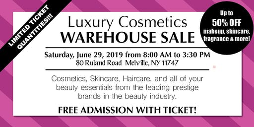 Special Invitation Warehouse Sale - JUNE 29, 2019