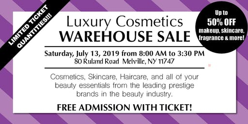 Special Invitation Warehouse Sale - JULY 13, 2019