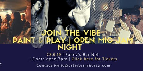 Paint & Play - Open Mic Jam Night | Vision Painting & Vintage Dress UP Box tickets