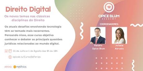 Direito Digital: os novos temas, nas clássicas disciplinas do Direito ingressos