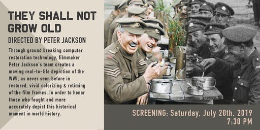 Screening of They Shall Not Grow Old