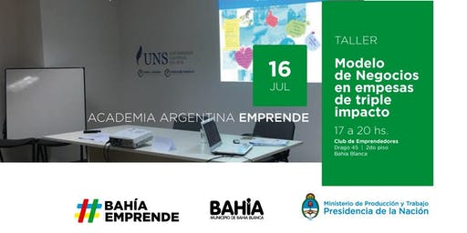 "AAE en Club de Emprendedores-""Taller de Modelo de negocios en empresas de triple impacto"" Bahía Blanca"