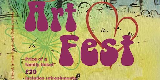 ARTFEST a celebration of the students of Mini Monets Art School in Bucks