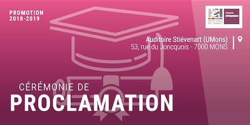 Proclamation | Promotion 2018-2019 - HEH Campus pédagogique de Mons