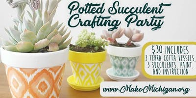 Potted Succulent Crafting Party - Grand Rapids
