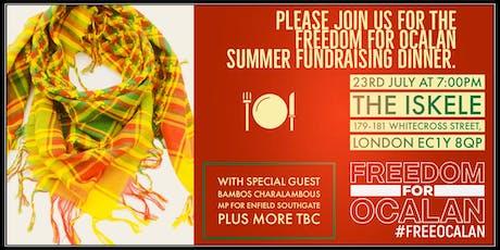 Freedom for Ocalan Summer fundraising dinner tickets