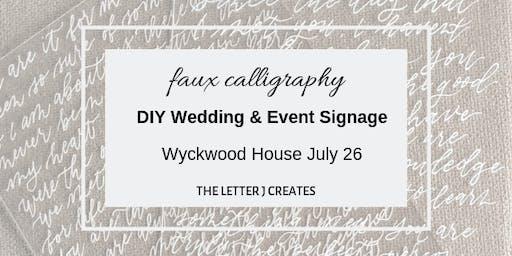 Monoline Calligraphy - DIY Wedding & Event Signage