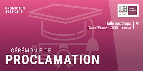 Proclamation | Promotion 2018-2019 - HEH Campus pédagogique de Tournai billets