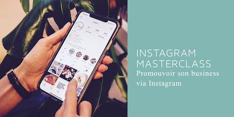 Masterclass: Promouvoir son business via Instagram billets