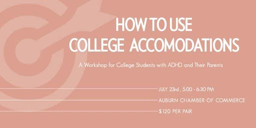 HOW TO USE COLLEGE ACCOMMODATIONS