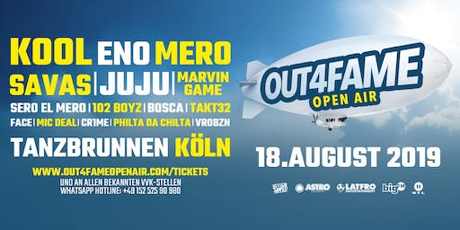 Out4Fame Open Air - 18.08. Tanzbrunnen Köln