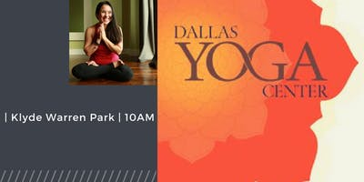 Free Yoga at Klyde Warren Park with Stef Tovar!