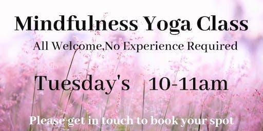 Mindfulness Yoga Dropn in class