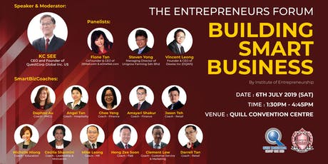 The Entrepreneurs Forum - Building Smart Business tickets