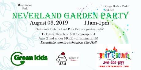 Neverland Garden Party tickets