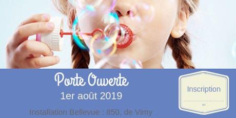 Porte Ouverte : Installation Bellevue // août tickets