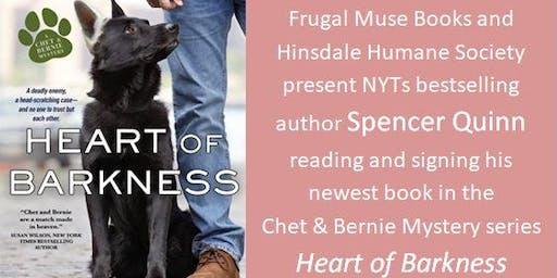 Spencer Quinn at the Hinsdale Humane Society