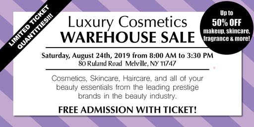 Special Invitation Warehouse Sale - AUGUST 24, 2019