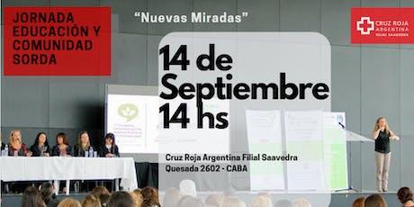 Jornada Educación y Comunidad Sorda - NUEVAS MIRADAS entradas