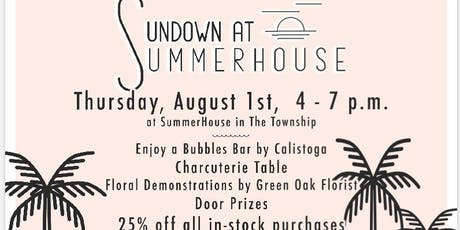 Sundown at Summerhouse- Bridgewater Living event tickets