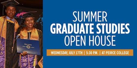 Summer Graduate Studies Open House tickets