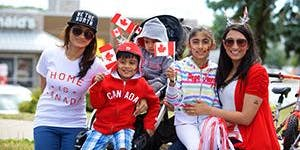 Volunteers for Canada Day People's Parade in Markham