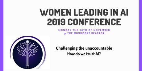 Women Leading in AI - 2019 Conference tickets