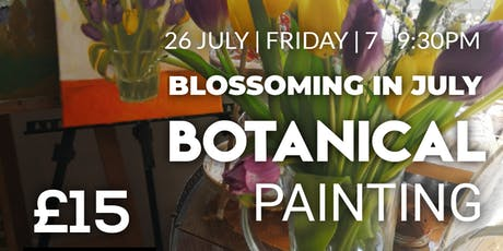 Acrylic Botanical Painting Workshop - Blossoming in July tickets