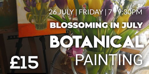 Acrylic Botanical Painting Workshop - Blossoming in July