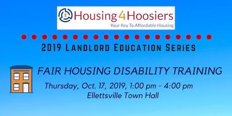 Fall 2019 Housing4Hoosiers Landlord Education Series: Fair Housing Disability Training tickets