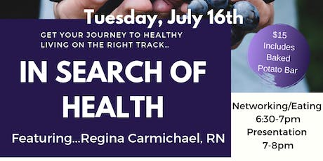 In Search of Health - Katy tickets