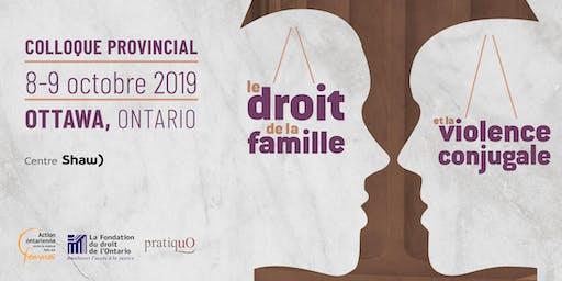 Colloque provincial sur le droit de la famille et la violence conjugale