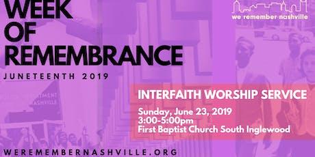 We Remember Nashville Interfaith Service tickets