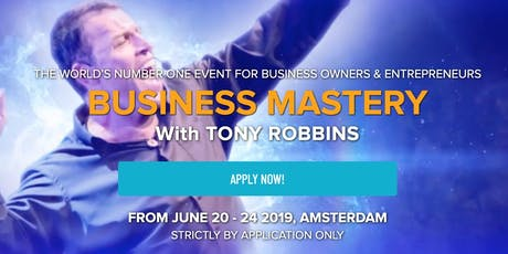 Tony Robbins Business Mastery Amsterdam 2019 tickets