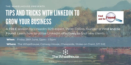 'Tips and Tricks with LinkedIn to grow you business' with Peter Collins