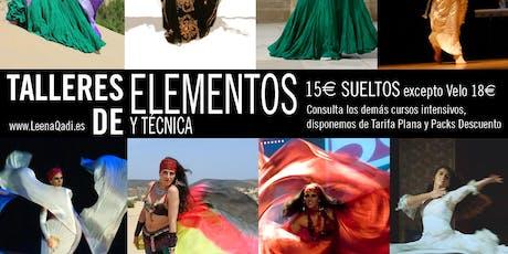 Talleres de elementos en la danza del vientre con Leena Qadi entradas