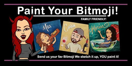 Paint Your Bitmoji Paint Party