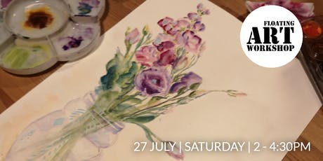 Watercolour Botanical Painting Workshop - Blossoming in July tickets