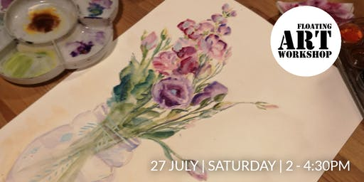 Watercolour Botanical Painting Workshop - Blossoming in July