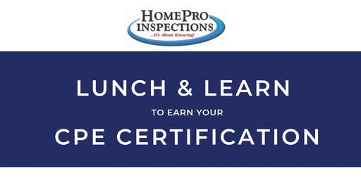 Lunch & Earn Your CPE Certification Seminar