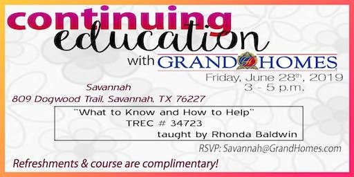 Continuing Education Course at Savannah