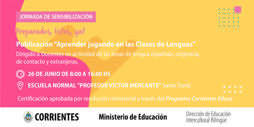"""Jornada de Sensibilización """"Aprender jugando en las Clases de Lenguas"""""""