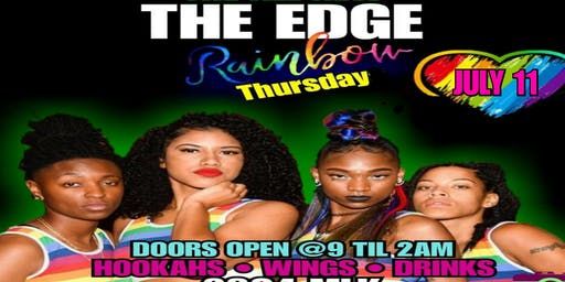"""PRIDE TAKEOVER The Edge Houston Presents """"Rainbow Thursday""""..The Biggest Urban Pride Party Of 2019"""