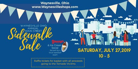 Waynesville Annual Sidewalk Sale & Ice Cream Social tickets