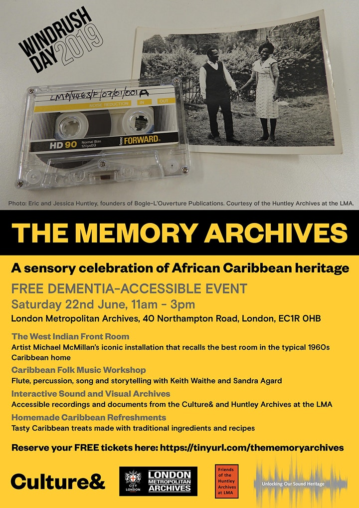 Windrush Day 2019 - The Culture& Memory Archives image