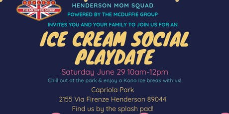 Ice Cream Social Playdate - Henderson Mom Squad tickets