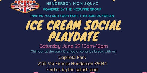 Ice Cream Social Playdate - Henderson Mom Squad
